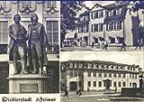 AK Weimar, Dichterstadt, Schillerhaus, Goethehaus