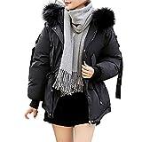 Innerternet Warme Damen Winter Jacke Steppjacke Übergangsmantel Parka Mantel Kurz Jacke Daunenjacken mit Kapuze Wintermantel warm gefüttert