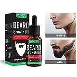 Huile de croissance de la barbe pour hommes, Kobwa Naturel non parfumées Barbe Huile pour meilleure et plus épais Barbe–Best Bio Moustache Après-shampoing adoucissant