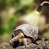EisEyen Aquarium Beleuchtung Led Aquarium Lamp Aufsetzleuchte für Wärmestrahler Strahler Floodlight Reptillien Lampe Terrariumlicht 25W UVA UVB für Reptilien und Amphibien