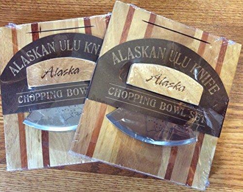 Alaskan Ulu Banjolele Messer und Schneidebrett Schüssel-Set von 2