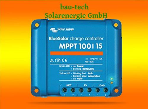 VICTRON Laderegler Energy BlueSolar MPPT 100/15 für 12V / 24V von bau-tech Solarenergie GmbH