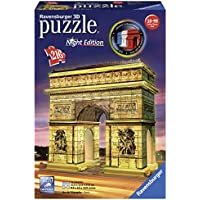 Ravensburger Italy 12522 - Arco di Trionfo Puzzle, 3D Building, Night Edition