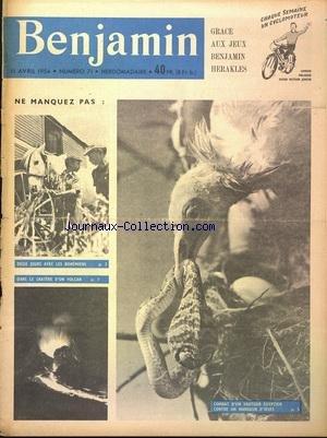 BENJAMIN JEUNESSE ACTUALITE [No 71] du 11/04/1954