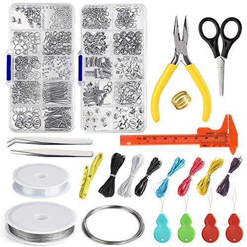Fepito jewelry finding starter tools kit kit di creazione di gioielli con filo per bordatura per riparazione di gioielli per la realizzazione di forniture per fai-da-te