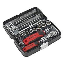 """Sealey AK8945 38pc 1/4""""Sq Drive Socket & Bit Set"""