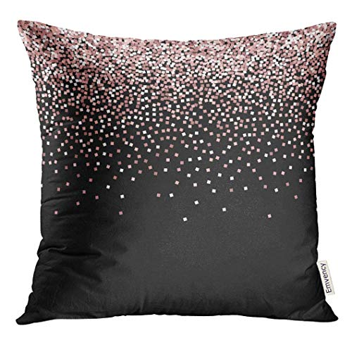 Throw Pillow Cover Confetti Pink Scatter Top Gradient with on Black Falling Abstract Decorative Pillow Case Home Decor Square 18x18 Inches Pillowcase (Für Kids Top-halloween-filme)