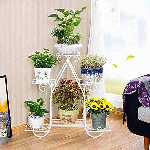 WTL Porte-fleurs Plancher en bois à plusieurs étages Étagère polyvalente en polyuréthane Multi-fleur à étages Salon de style européen Étagère à fleurs de balcon Radis vert ( Couleur : A , taille : Grand )