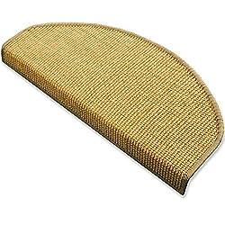 Sisal - Stufenmatten, Stufenmatte, Treppenteppich, MA natur groß, gewebt in natürlicher, schöner Sisalstruktur,eingepresster Treppenwinkel für sicheren Halt, wohnlichen Farben und rutschsicher für Mensch und Tier