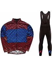 Uglyfrog 2018 Nuevo Maillot Ciclismo Set Hombre Invierno Jersey + Pantalones Mangas Largas de Ciclismo Ropa Maillot Transpirable para Deportes al aire libre Ciclo Bicicleta