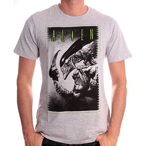 Tshirt Herren Alien – To Be Or Not Grau - Grau
