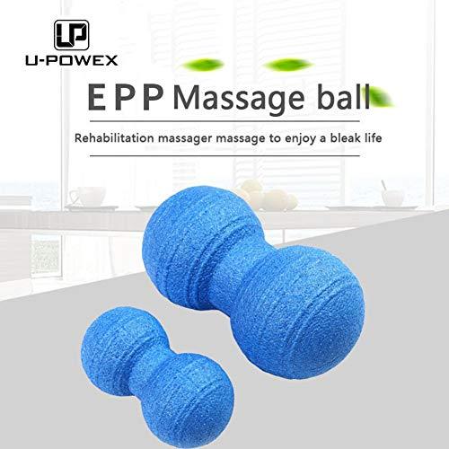 U-POWEX Peanut Duo Massageball - in 2 Größen - Selbstmassage Duoball Faszienballe - Trigger Point Massage Ball - Faszienbälle