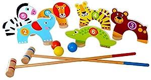 Tooky Toys TKC488 - Juego de Palillos de Madera, diseño de Jungla, Multicolor