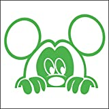3082__LGRE Autoaufkleber Funny mouse great gift sticker - car, window, door decal ( Light Green)