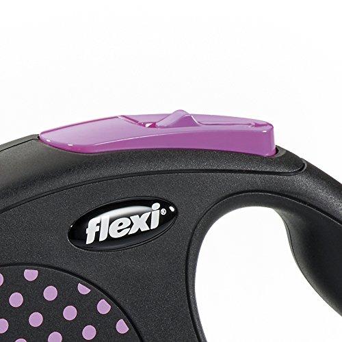 flexi . Roll-Leine Design, Seil 5 m für Hunde bis Maximal 20 kg , M, pink - 3