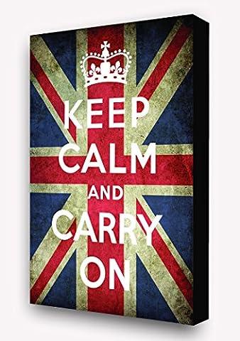 Keep Calm & Carry On 'Union Jack Flag' Vertical Block