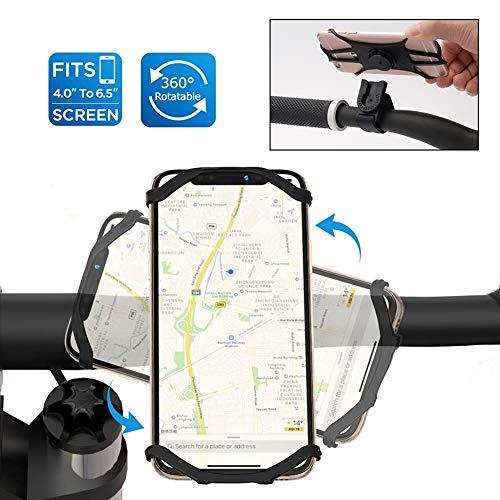 Abnehmbar Fahrrad Handyhalterung 360°Drehbare Handy Fahrradhalterung für Allen Handy Smartphones Full Screen Verstellbare Rotation Handyhalterung für Rennrad Motorrad Kinderwagen
