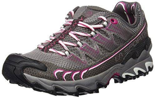 La Sportiva Ultra Raptor - Deportivos de running para mujer, color gris / rosa, talla 37