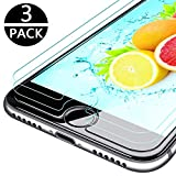 KENTY [3 Stück Panzerglas Schutzfolie für iPhone 7/8, Anti-Öl & Fingerabdruck, 9H Härtegrad, HD Ultra-Klar, Anti-Kratzer