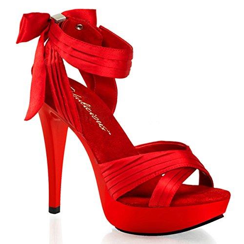 High Heels Sandalette, Damen, Rot (rot) Rot (Rot)