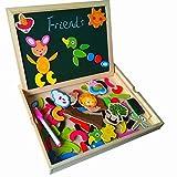 Juguetes Best Deals - Fajiabao Rompecabezas caja de madera Magnética de Tablero Educativo Pizarra para Niños de 3 Años +