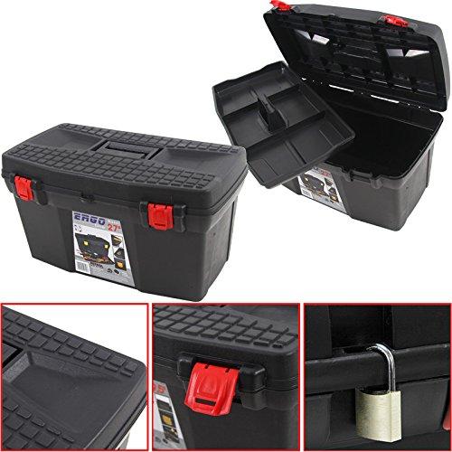 """Kunststoff Werkzeugkoffer ERGO Basic 27"""", 60x34cm Kasten Werzeugkiste Sortimentskasten Werkzeugkasten Anglerkoffer"""