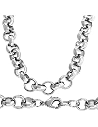 d8dd6654131 Pea Chain Mens Hip Hop Bling – Silver-Plated Necklace ...