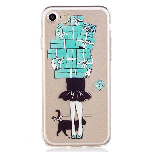 iPhone 7 Hülle, Voguecase Silikon Schutzhülle / Case / Cover / Hülle / TPU Gel Skin für Apple iPhone 7 4.7(Corgi) + Gratis Universal Eingabestift Geschenk Mädchen
