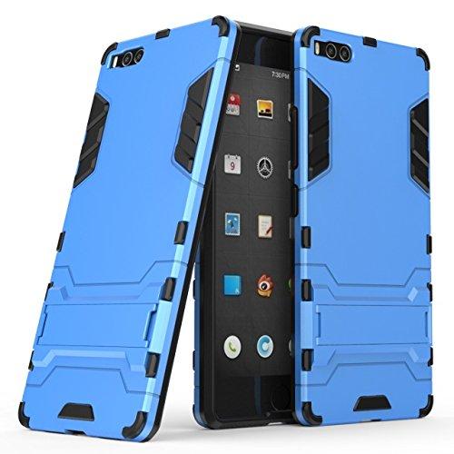 Happy-L Hülle Für Smartisan U1 Pro (2017), 2-in-1-Eisenrüstung Tough Style Hybrid-Zweischichtrüstung Defender PC + TPU Hartschalen-Schutzhülle mit stoßsicherem Standfuß (Farbe : Blau)
