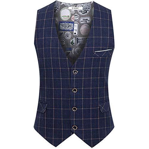 Fcbdxn uomo casuale tuta panciotto giubbotti cappotti waistcoats gilet cappotto formale nozze senza maniche veste cappotti,blue1-xxxl