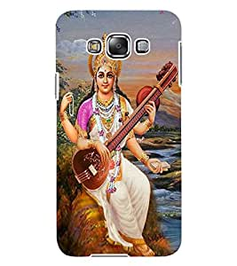 ColourCraft Maa Saraswati Design Back Case Cover for SAMSUNG GALAXY E7