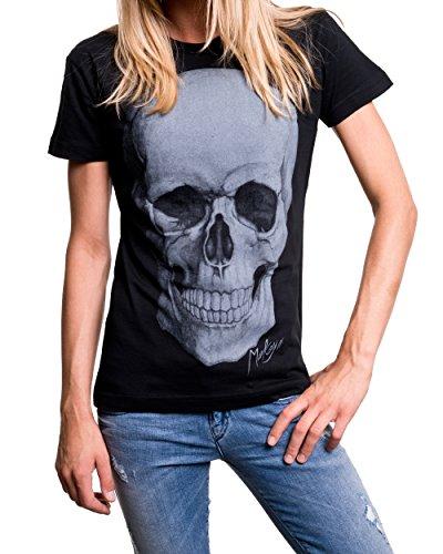 Maglietta Donna Nera - SKULL - T-shirt con teschio Nero
