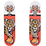 Ancheer Skateboard ,Mode PRO Druckholzplatte + PU-Rollen komplette Deck Skateboard,Deck Größe: 78,5 x 19,5 x 9,5 cm,Belastung:100kg (Tiger)