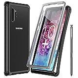 Temdan Samsung Galaxy Note 10+ Plus Hülle, Galaxy Note 10+ Plus 5G Hülle, Stoßfest Transparent 360 Grad Armor mit Eingebautem Bildschirmschutz Hülle für Samsung Glaxy Note 10+ Plus 5G (Schwarz)