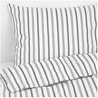 Ikea cama höstöga rayas gris y blanco en 3tamaños, 100% algodón, gris, blanco, 240 x 220 cm
