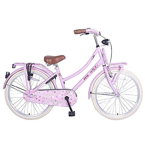 Vélo Fille Zonix Oma 24 Pouces Frein à Rétropédalage Rose 85% Assemblé