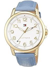 Tommy Hilfiger 1781653 - Reloj análogico de cuarzo con correa de cuero para mujer, color