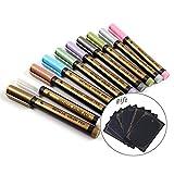 TOPmore Metallic Marker Stifte, Satz von 10 Farben Metallischen Maker Pen Kartenherstellung DIY Fotoalbum Gebrauch auf irgendeiner Oberfläche-Papier Glas Kunststoff Keramik