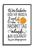 Kunstdruck WIR LIEBEN DICH KLEINER FUCHS Fine Art Poster Print Plakat in DIN A4