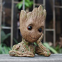 Meiqils Baby Groot Pot de Fleur - Figurine d'action Guardians of The Galaxy pour Plantes et stylos - Parfait comme Cadeau