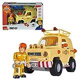 Feuerwehrmann Sam - Fahrzeug Tom's 4x4 Geländewagen mit Licht & Figur Sam Test