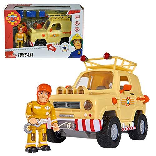 feuerwehrmann sam gelaendewagen Feuerwehrmann Sam - Fahrzeug Tom's 4x4 Geländewagen mit Licht & Figur Sam