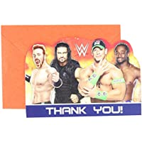Amscan 481467 WWE Die-Cut Thank you Cards