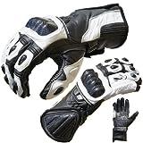PROANTI Motorradhandschuhe Pro Racing Motorrad Leder Handschuhe Größen: M-XL