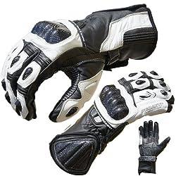 Motorradhandschuhe Pro Racing Motorrad Leder Handschuhe von PROANTI Größen: M-XL