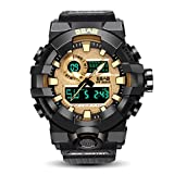 Best Golden Watches - Xinew Analogue-Digital Multifunctional Outdoor Sports Dual Time Golden Review