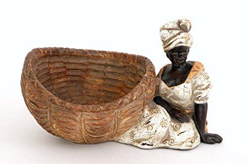Sukima Decor Figura con Diseño Negrita Colonial, Resina, 28 cm