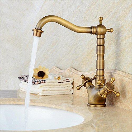 Serie Single-loch (TOYM- European - Style Copper Antique Wasserhahn Retro Hot Und Kalte Waschbecken Wasserhahn Single - Loch Waschbecken Wasserhahn)