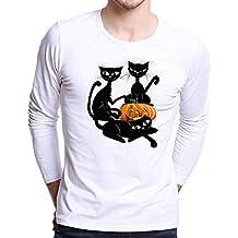 Blusas de Halloween,BBestseller Camiseta de Manga Larga con Estampado en 3D de Halloween para