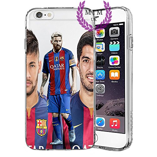Custodie iPhone per Football Soccer Calcio Case Cover - Design Ultimi Unique - Tutti i modelli iPhone - Brand New - Alta Qualità - MSN Trio - Messi - Neymar - Suarez - Barcelona - Ronaldo - MIM UK (iP Msn Trio
